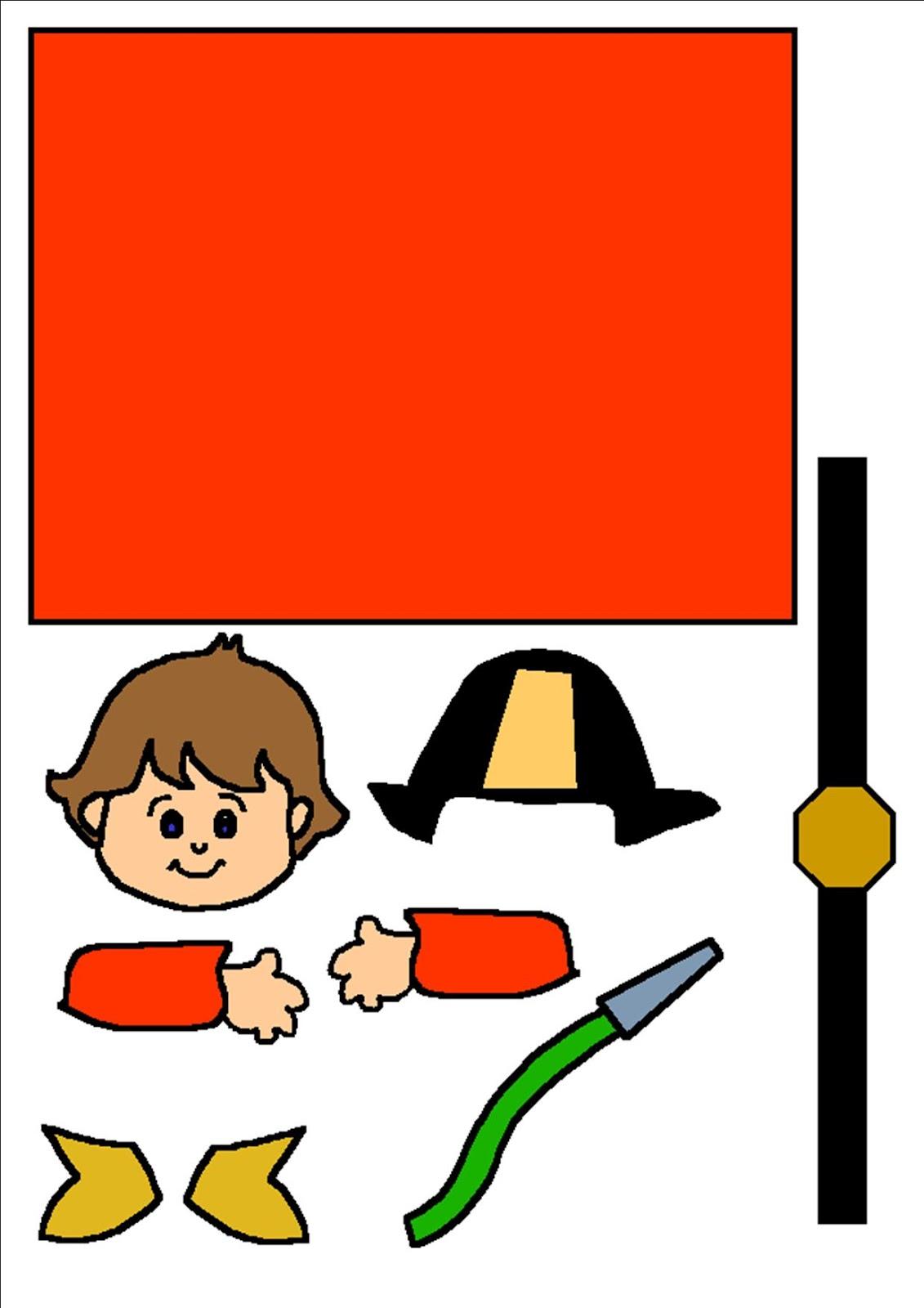 Пожарник из бумаги своими руками