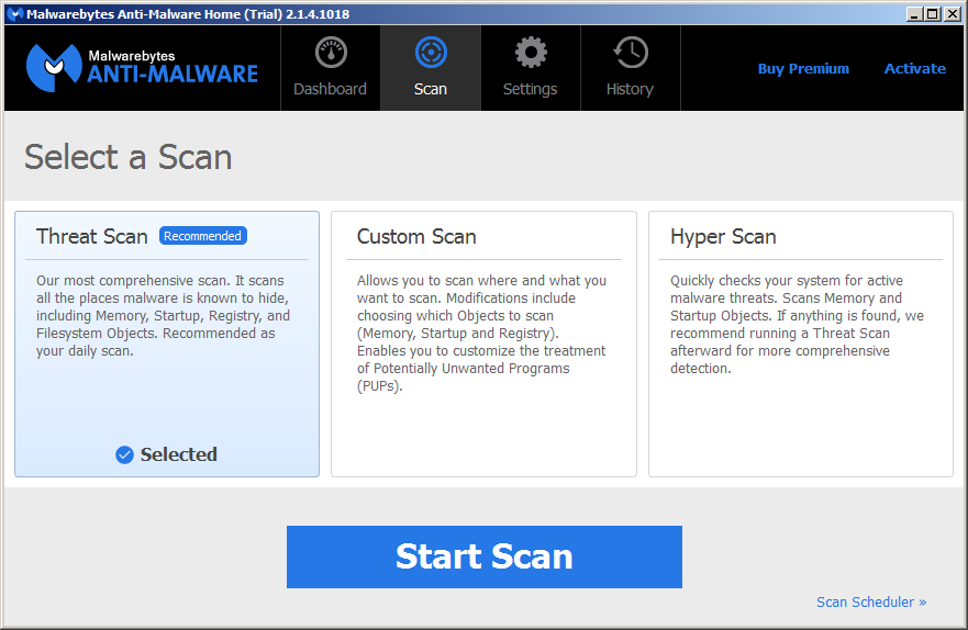 Scan with Malwarebytes