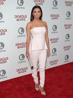 Eva Longoria attends  Devious Maids Premiere red carpet in LA