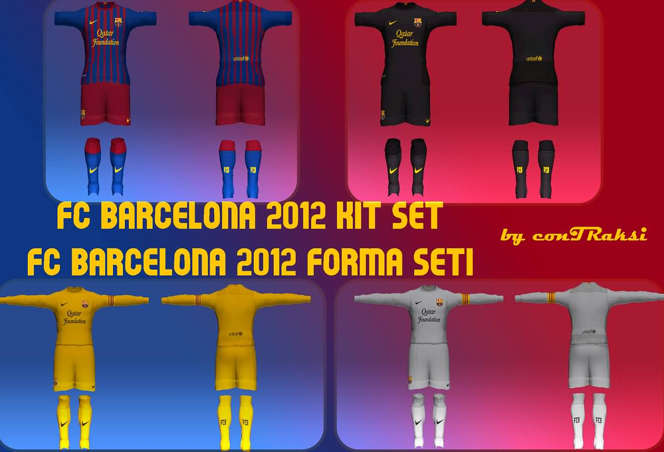 Barcelona Kit Set Temporada 2011 2012 Para PES 2011 By ConTRaksi