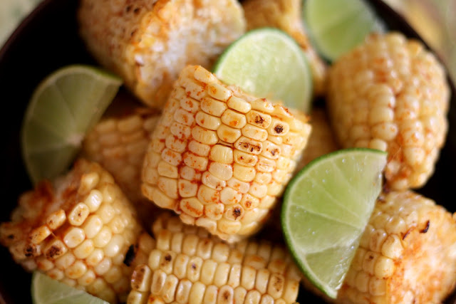 Broiled or Grilled Chili Lime Corn on the Cob recipe by Barefeet In The Kitchen