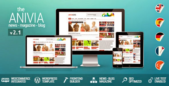 Anivia v2.1 - News, Magazine, Blog Wordpress Templates
