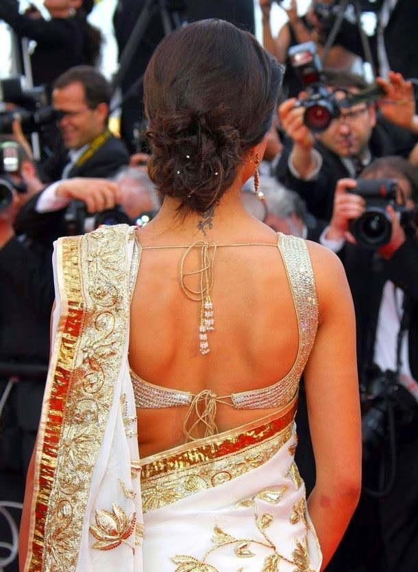 Deepika Padukone Backless Blouse