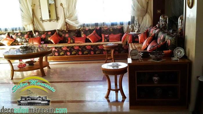 Salon marocain villa élégant et délicatesse