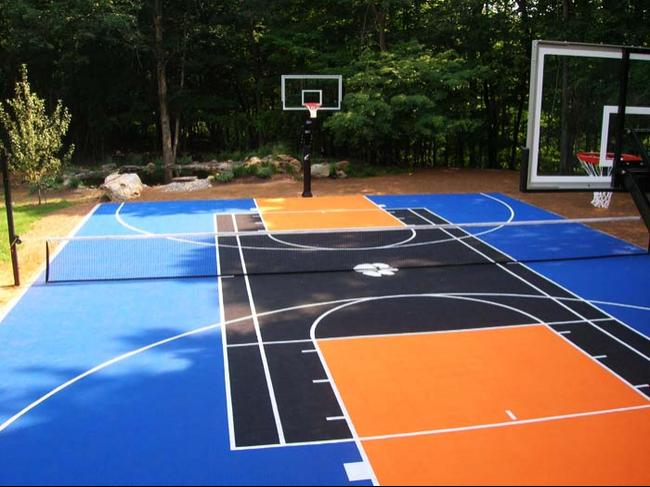 Basketball court dallashomelessnetwork for How to build a sport court