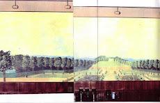 Tuinen van Vaux Le Vicomte, detail muurschildering
