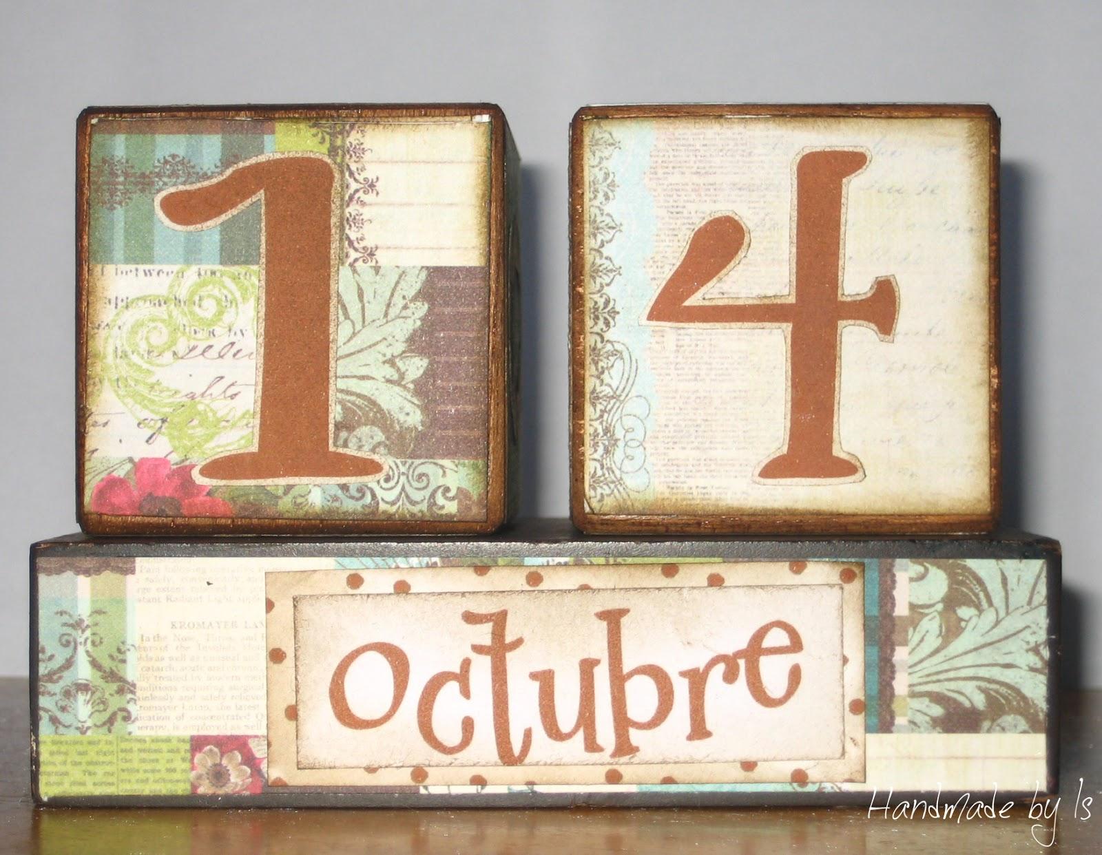 Calendar Wooden Blocks : Handmadebyis calendario con bloques de madera