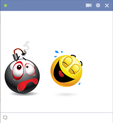 Disabled bomb emoticon