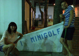 Minigolf course in Arma, Italy by Karl and Sophia Moles August 2015