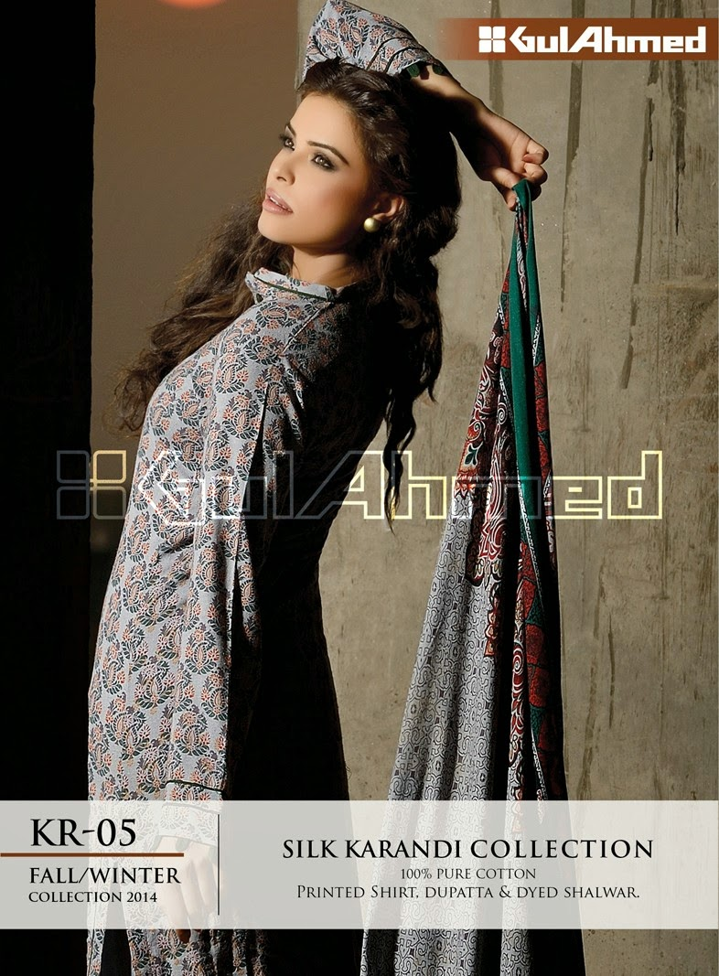 GulAhmed Fall/Winter 2014 Silk Karandi Collection - KR-05
