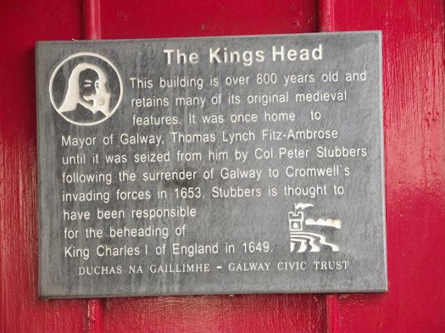 Kings head , Rey Carlos I de Inglaterra Galway