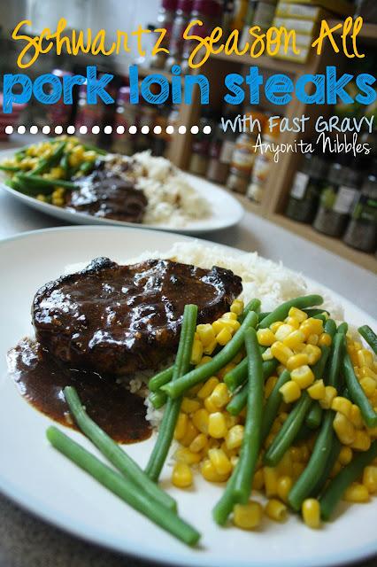 Schwartz Season All Pork Loin Steaks with Fast Gravy from www.anyonita-nibbles.com