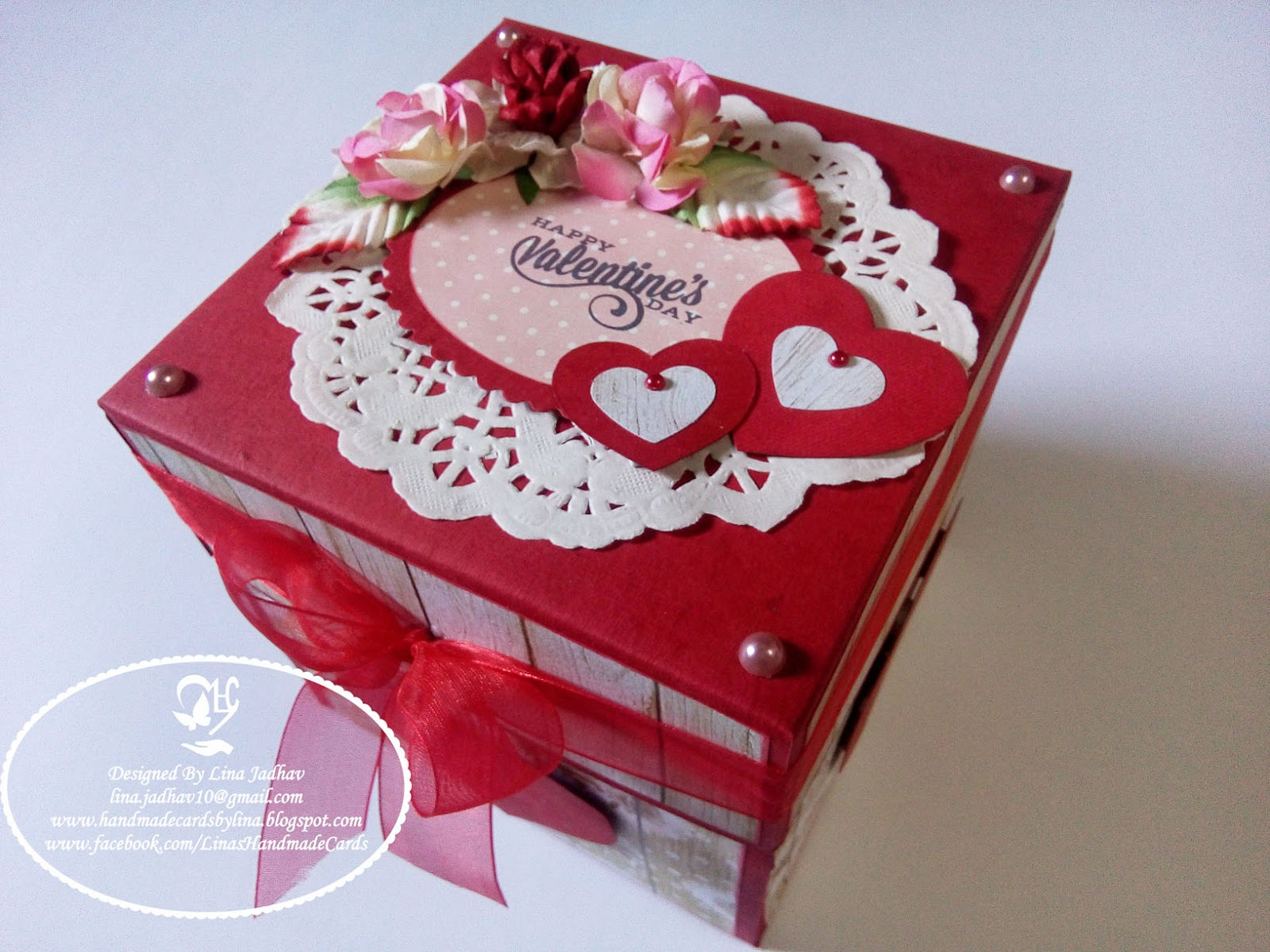 Linas Handmade Cards Love Themed Explosion Box