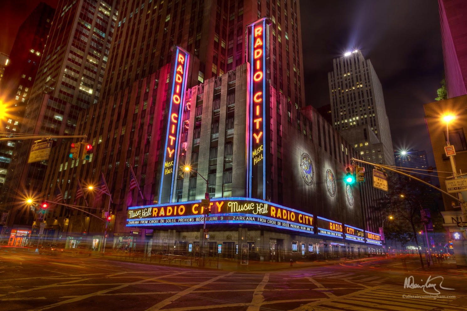 Alistair Cunningham, fotografía HDR, Radio City Music Hall, New York