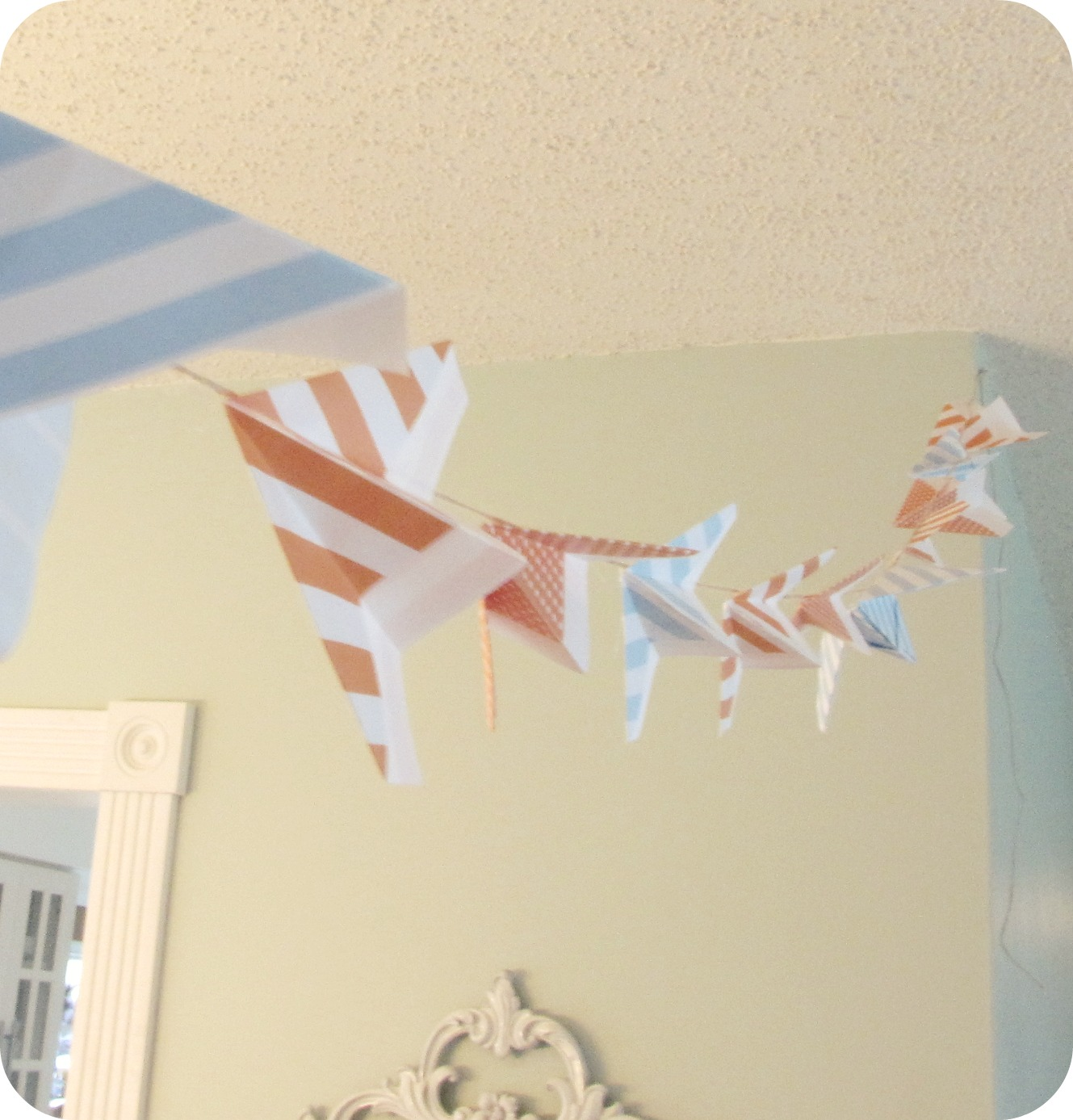 my house of giggles paper airplane baby shower