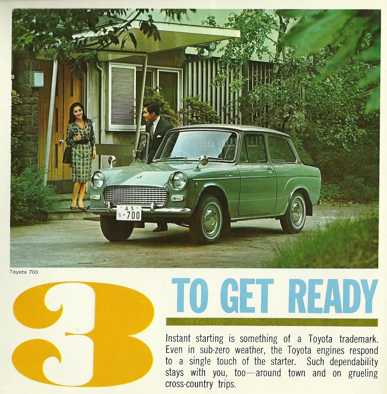 1964 Toyota 700 print ad