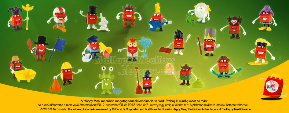 Mcdonald S Happy Meal Toys 2013 : The happy meal character toys