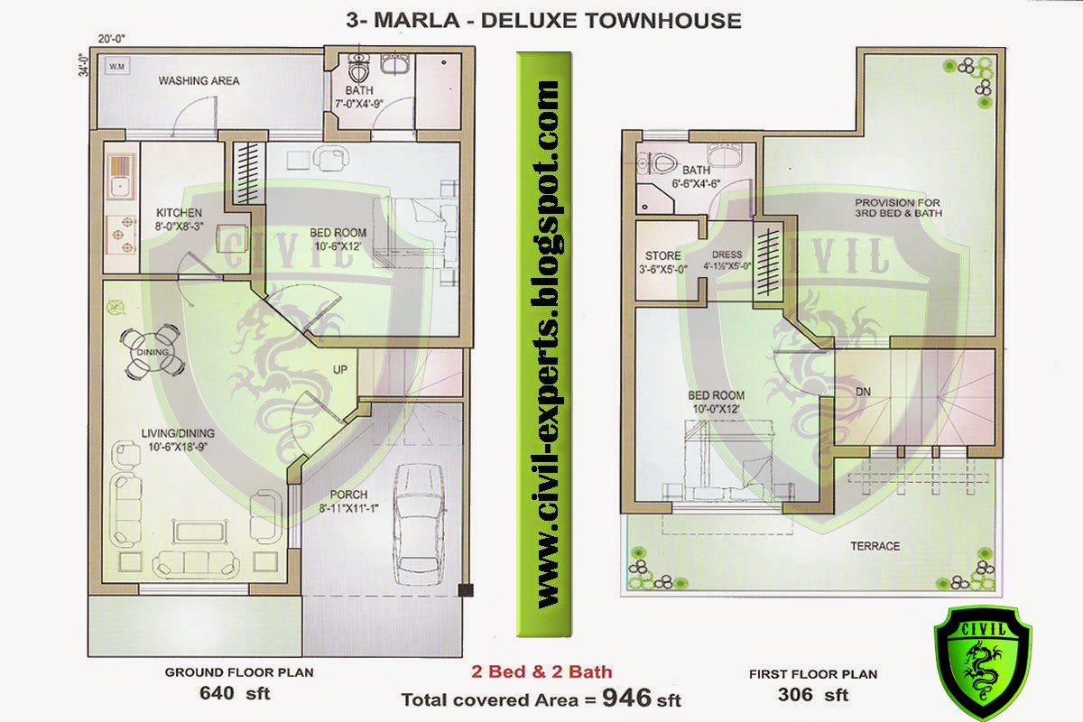 100 home design 5 marla 5 marla house sold phase 6 5 marla house plan 3d