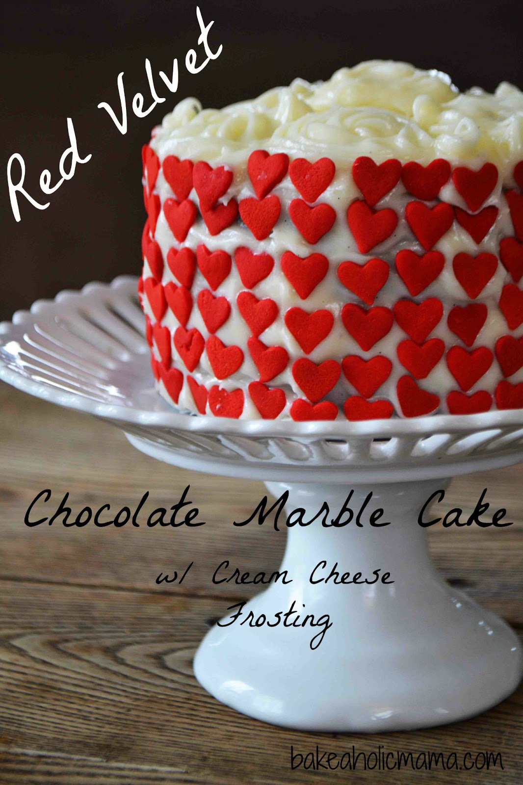 Bakeaholic Mama: Red Velvet and Chocolate Marble Cake For Two