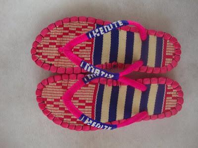 Kobby Amoa-Mensah kente sandals