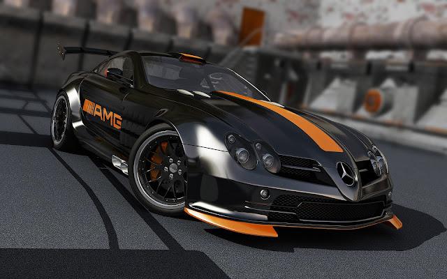 Imagenes del Mercedes-Benz SLR McLaren AMG Negro