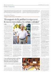 Entrevista a José Luis Álamo en la Provincia