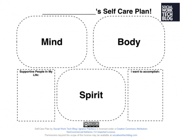 It is safe for you to love them self care for Self care plan template