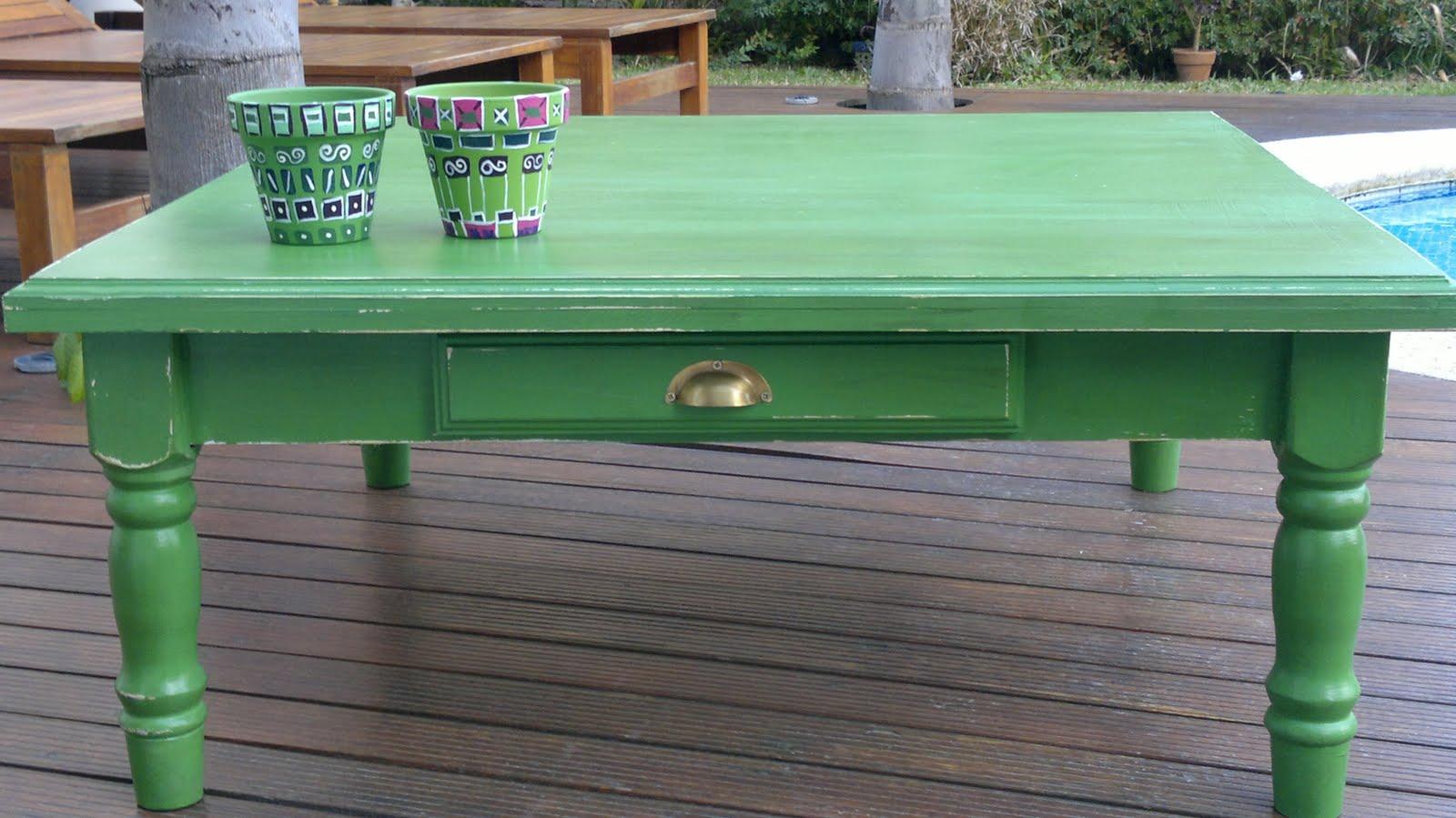 Vintouch muebles reciclados pintados a mano mesa for Campo semantico de muebles
