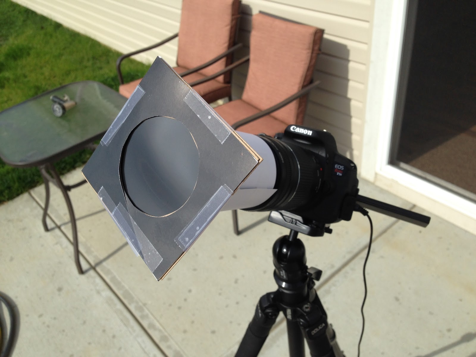 home made solar filter or DSLR