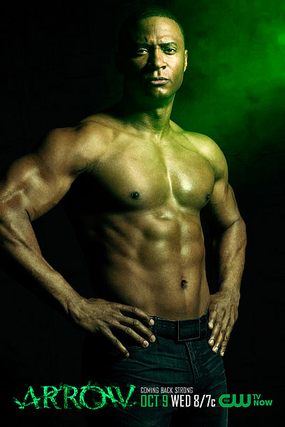 David Ramsey John Diggle shirtless Arrow Digg sexy hot naked pecs abs pictures photos