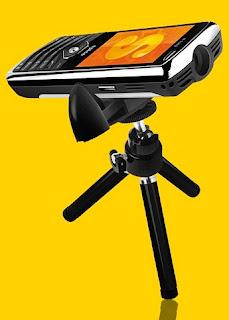 Spice Popkorn Projector Phone
