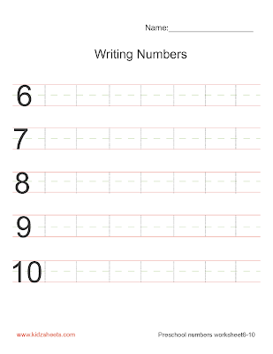 Free Printable Preschool Writing Numbers Worksheets, Free Worksheets, Kids Maths Worksheets, Maths Worksheets, Preschool Writing Numbers Worksheets, Writing Numbers, Preschool, Kids Writing Numbers,Writing Numbers 6-10, Math Worksheets, Kids Worksheets