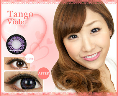 Tango Violet Contact Lenses at ohmylens.com