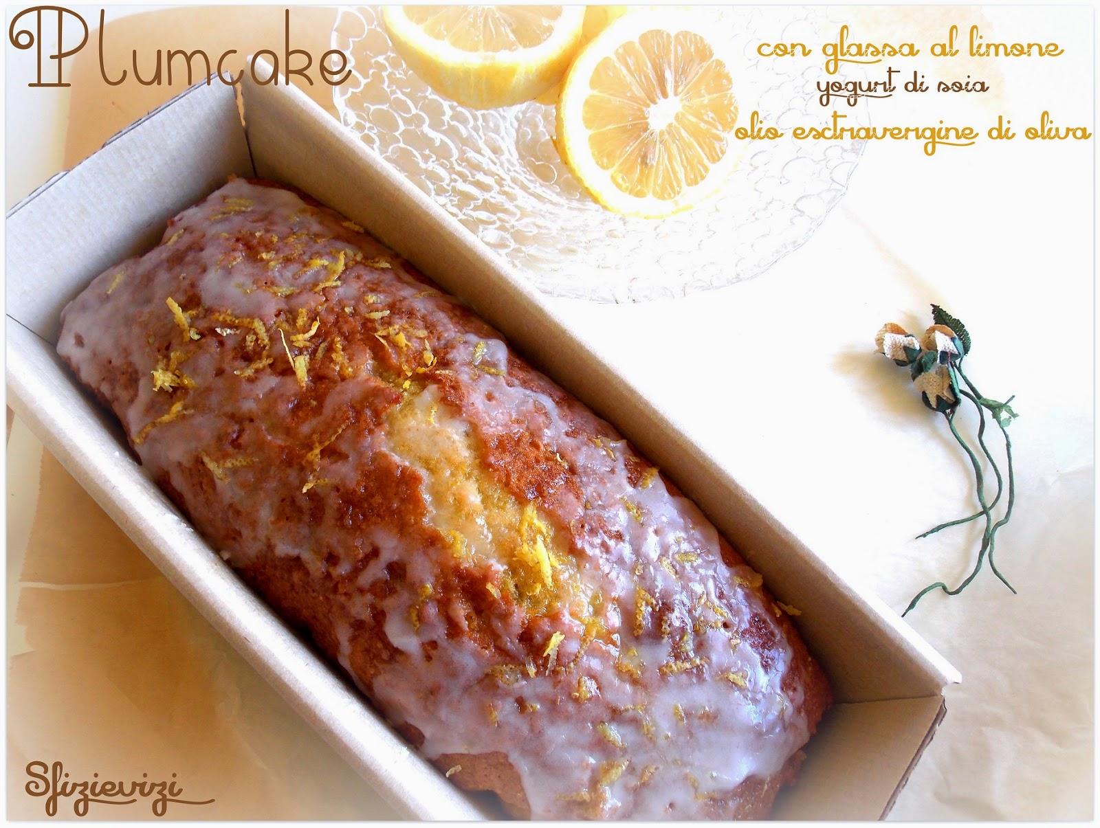 plumcake al limone con olio evo, yogurt di soia e glassa al limone - ricetta senza latticini e senza lievito -