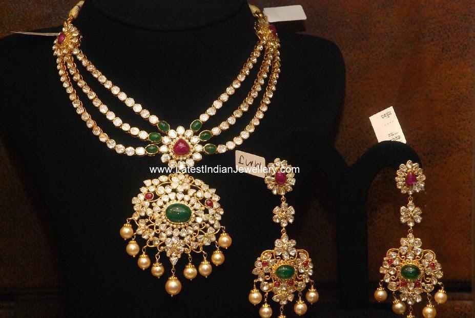 pachi work bridal necklace set