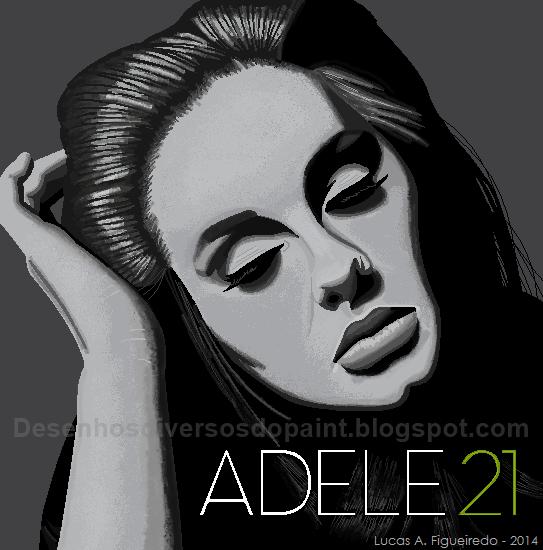 Desenho da Adele na capa do Álbum 21.
