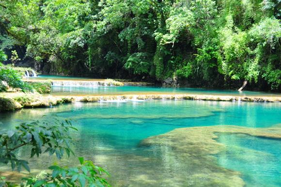 Baños Turcos Naturales En Aguas Termales:Semuc Champey Guatemala