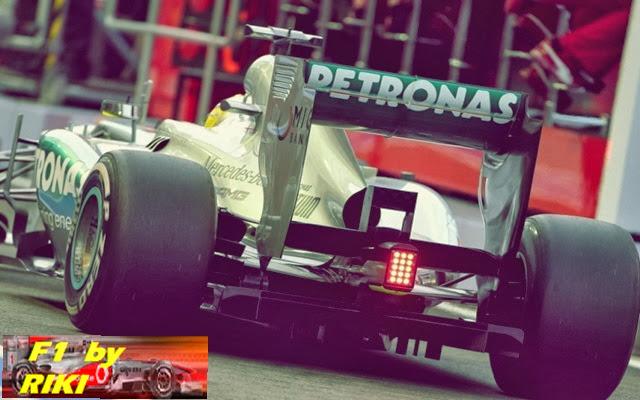 Un mercedes en la CalificaciA?n del GP Singapur 2013