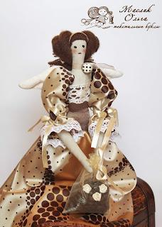 Тильда, кофейная фея. Текстильная кукла купить