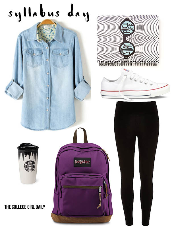 outfit, chucks, converse, back to school, school, college, syllabus,