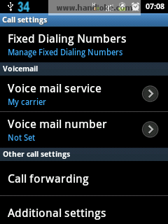 Pilih Additional Settings