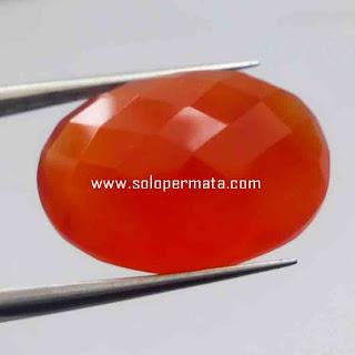 Batu Permata Natural Orange Calcedhony