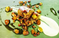 Solomillo de jabalí con puré de coliflor