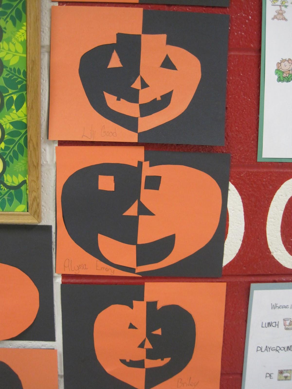 savvy second graders pumpkin art