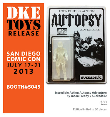 San Diego Comic-Con 2013 Exclusive Sucklord x Jason Freeny Incredible Action Autopsy Adventure Bootleg Resin Figure