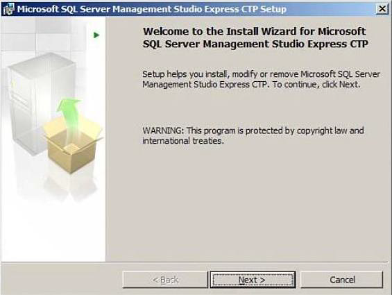 image Intallasi SQL Server Management Studio Express Edition