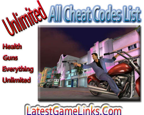 gta vice city codes list free download pdf