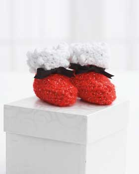 Santa Claus Baby Booties Crochet PATTERN for Christmas
