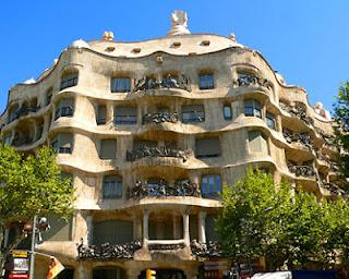 Casa de la Pedrera de Gaudí en Barcelona