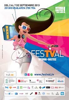 Cartel del FesTVal 2013 de Vitoria-Gasteiz
